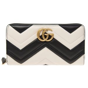 Gucci Leather GG Marmont Wallet Card Case Clutch